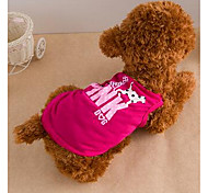 Dog Dress Dog Clothes Cute Casual/Daily Cartoon Purple Ruby Light Green