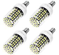 6W E14 LED лампы типа Корн T 108 SMD 5733 550 lm Холодный белый AC 220-240 V 4 шт.