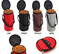 New Collapsible Pet Bowl Dog Travel Bowl High Quality Foldable Pet Hamster Dry Food Container Waterproof Bag