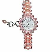 Da donna Orologio braccialetto Quarzo Banda Rosa Rosa