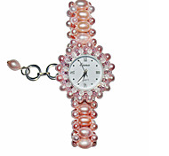 Femme Bracelet de Montre Quartz Bande Rose Rose