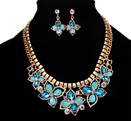 MOGE New Fashion Europe And The United States Retro Ladies Jewelry Set Necklace / Earrings