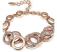 May Polly  Classic fashion bracelet full diamond circlet polycyclic circle