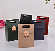 10Pcs   15*9.8*5.8Cm  Kraft Paper Bags  Party  Or   Wedding Gift And Sugars  Packaging