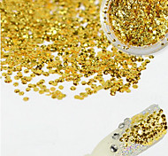 1 Bottle Fashion Charming Gold Nail Art Glitter Water Droplet Paillette Decoration Beautiful Shiny Thin Slice Nail DIY Decoration Beauty Design D07