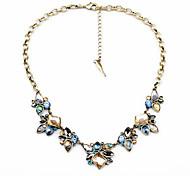 Жен. Пряди Ожерелья Кристалл В форме цветка Уникальный дизайн Euramerican бижутерия Бижутерия Назначение