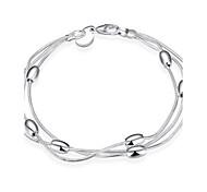XU Ladies Fashion Circular Shrinkage Silver Bracelet