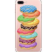 Для Прозрачный С узором Кейс для Задняя крышка Кейс для Продукты питания Мягкий TPU для AppleiPhone 7 Plus iPhone 7 iPhone 6s Plus iPhone