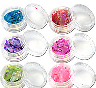 13bottle/set Fashion Colorful Glitter Shell Paillette Sweet Style Nail Art Decoration Beautiful Nail DIY Decoration BK01-13