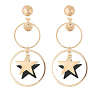 Star Drop Earrings Jewelry Euramerican Fashion Daily Alloy Wood 1 pair