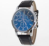 Masculino Mulheres Relógio Esportivo Relógio Elegante Relógio de Moda Relógio de Pulso Quartzo Mostrador Grande Couro Legitimo Banda