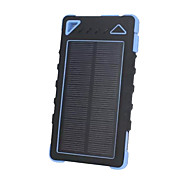 SUNWALK Portable Solar Charger Power Bank 8000mAh Dual USB Solar Battery Backup External Battery for Cell Phone