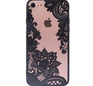 Назначение iPhone X iPhone 8 iPhone 6 iPhone 6 Plus Кейс для iPhone 5 Чехлы панели Прозрачный С узором Задняя крышка Кейс для Кружева