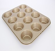 Non stick cake mould mini 12 cups muffin baking pan size FDA carbon steel small size