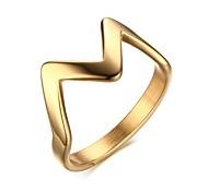 Ring Stahl Euramerican Gold Schmuck Alltag 1 Stück
