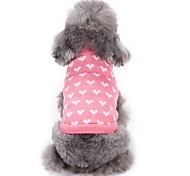 Cat Dog Sweater Dog Clothes Winter Hearts Fashion Casual/Daily Pink Princess Coat Pet Clothing