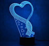 Рождественская любовь прикосновение затемнения 3d привело ночник 7colorful украшения атмосферу лампа новинка освещение рождественский свет