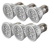 4W E26/E27 LED Spot Lampen 4 Hochleistungs - LED 360 lm Kühles Weiß V 6 Stück