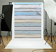 5x7ft деревянный пол пол фотографии фон студия реквизит синий доска тема новый