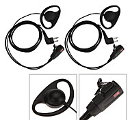365 Accessories 2Pcs 2-pin D Shape Earpiece Headset PTT Mic for Motorola GP88 CT150 Walkie Talkie Radio