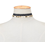 Women's Choker Necklaces Jewelry Lace Copper Jewelry Dangling Style Tassel Vintage Euramerican Simple Style Fashion White Black Jewelry