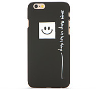 For Frosted Pattern Case Back Cover Case Smiling Face Hard PC for Apple iPhone 7 Plus iPhone 7 iPhone 6s Plus/6 Plus iPhone 6s/6 iPhone