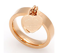 Муж. Жен. Классические кольца Сердце Титановая сталь В форме сердца Бижутерия Назначение Свадьба Для вечеринок Особые случаи Повседневные