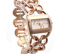 Women's Fashion Watch Quartz Alloy Rose Gold Plated Band Rose Gold
