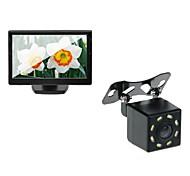 5 Car TFT LCD Monitor and Car Rear View Backup 8LED Night Vision Camera