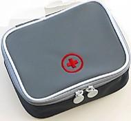 Travel Pill Box/Case Portable for Travel StorageGray Blushing Pink