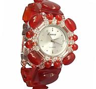 Da donna Orologio alla moda Orologio braccialetto Quarzo Verde cacciatore Banda Rosso Rosso