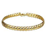 Classic 18K Yellow Gold Plated S Style Snake Chain & Link Bracelets Christmas Gifts Jewellery for Women Accessiories