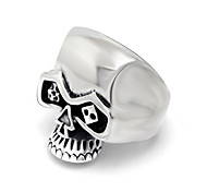 Fashion PUNK SKULL RING finger Ring Personality of Non Mainstream Men's jewelry Jewelry Halloween SA873 316L stainless steel