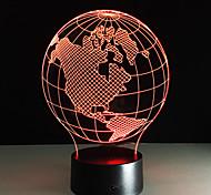Lampe de nuit lampe de table en acrylique carte d'americas forme lampe de nuit colorée enfants cadeau d'anniversaire veilleuses pour