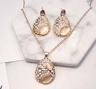 Set di gioielli Di tendenza Euramerican Lega Lacrime 1 collana 1 paio di orecchini Per Feste Quotidiano 1 Set Regali di nozze