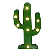 Cactus LED 3D Night Light Battery  Nightlight Marquee Desk Table Lamp Letter for Kids Gift