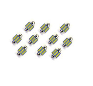 10Pcs 31MM 12*2835 SMD LED Car Light Bulb White Light DC12V