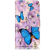 Para huawei p10 lite p8 lite (2017) material de couro pu material de borboleta alívio telefone caso p10 mais p10 p9 lite p8 lite