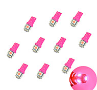 10Pcs T10 5*5050 SMD LED Car Light Bulb Pink Light  DC12V