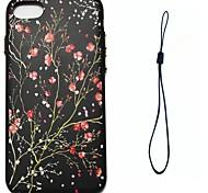 Для яблока iphone 7 7 плюс 6s 6 плюс se 5s 5 крышка корпуса сливы шаблон цвета впрыск топлива облегчение обшивка кнопка толще материал тпу