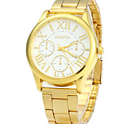 Fashion Watch Quartz Alloy Band Vintage Gold Brand