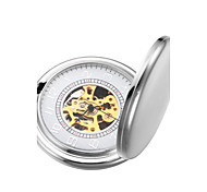 Men's Mechanical Gold Skeleton Silver Alloy Pocket Watch Cool Watch Unique Watch