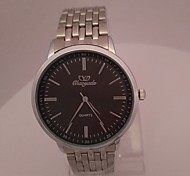 Men's Men Dress Watch Wrist watch Quartz Stainless Steel Band Black Silver