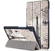 Pu copertina per lenovo tab3 tab 3 8 plus 8703 tb-8703f p8 con protezione dello schermo