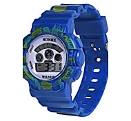 Kids' Sport Watch Digital Watch Chinese Digital Silicone Band Blue Red Yellow