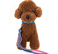 Высококачественная мода золотая лента собака воротники нейлон материал собака тяга веревка кошка собака упряжи животное поставок оптовая