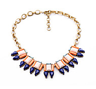 Women's Statement Necklaces Drop Chrome Unique Design Personalized Dark Blue Jewelry For Gift Outdoor 1pc