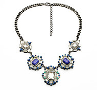 Women's Strands Necklaces Geometric Chrome Friendship Cute Style Light Green Light Blue Jewelry For Congratulations Graduation Gift 1pc