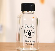 2Pcs Cartoon Outdoor Drinkware 201-300 ml Portable Glass Water Water Bottle Random Pattern