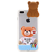For Apple iPhone 7 Case Cover Transparent Pattern Back Cover Case 3D Cartoon Hard PC
